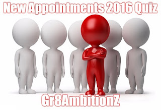 Quiz on New Appointments 2016