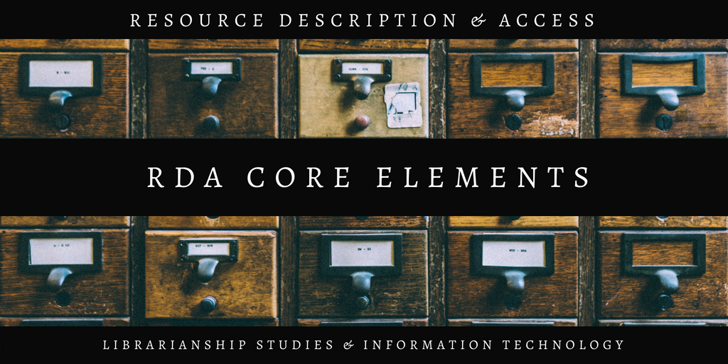 RDA Core Elements