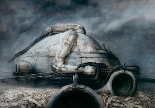 """Un des tableaux de la série """"Dune"""" pour Jodorowsky (1975)"""