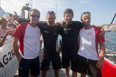 Les vainqueurs de la Transat AG2R à Saint-Barth.