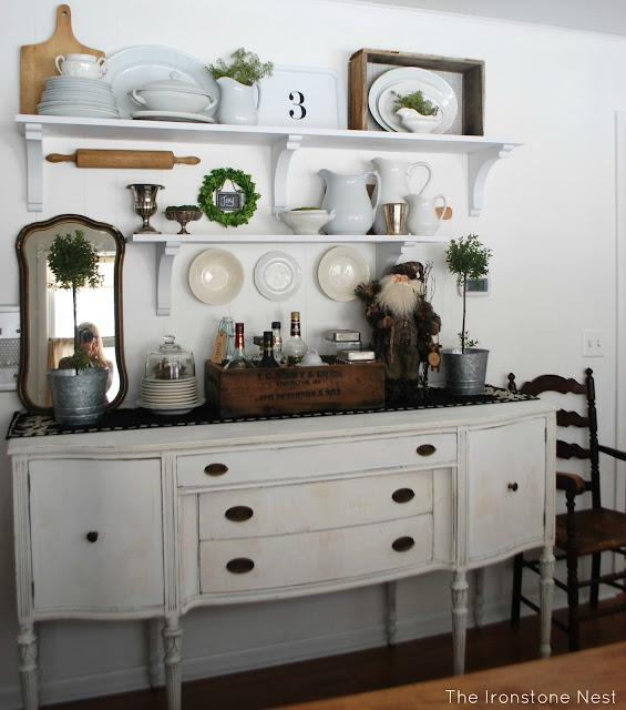 Dining Room Shelving Ideas: Winter Open Shelves & A Sponsor
