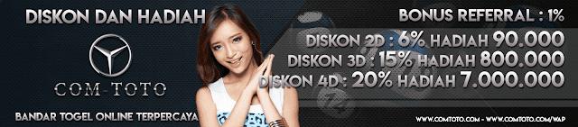 Diskon dan Hadiah Comtoto.com Agen Togel Online Terpercaya
