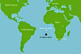 St Helena On World Map.The Ritchies In Edinburgh And Beyond St Helena South Atlantic A