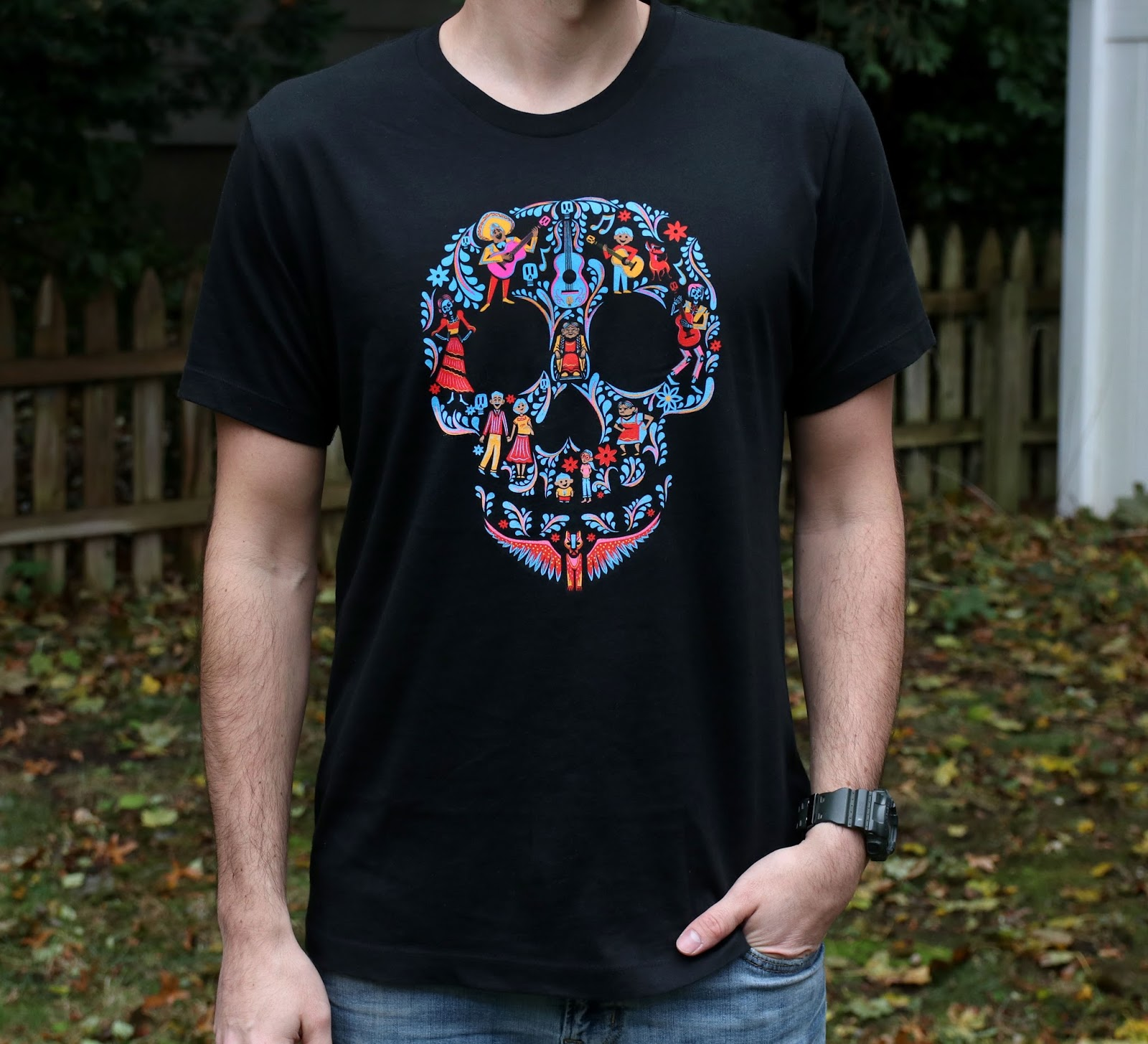 pixar studios store coco skull family tee t-shirt