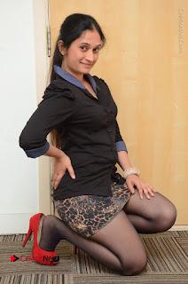 Telugu Actress Priyanka Pallavi Stills in Micro Mini Skirt at Nenosthaa Movie Song Launch at Radio City  0056.JPG