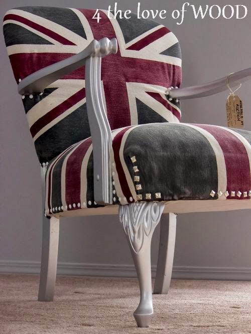 4 The Love Of Wood Union Jack Chair Painted Upholstery