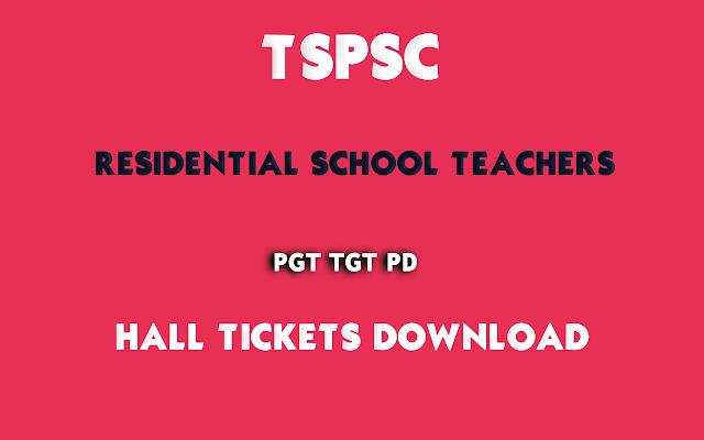 TSPSC-Residential-School-Teachers-PGT-TGT-PD-Halltickets