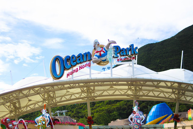 Ocean Park Hong Kong Welcome Sign