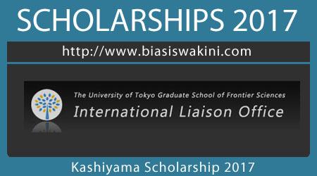 Kashiyama Scholarship 2017