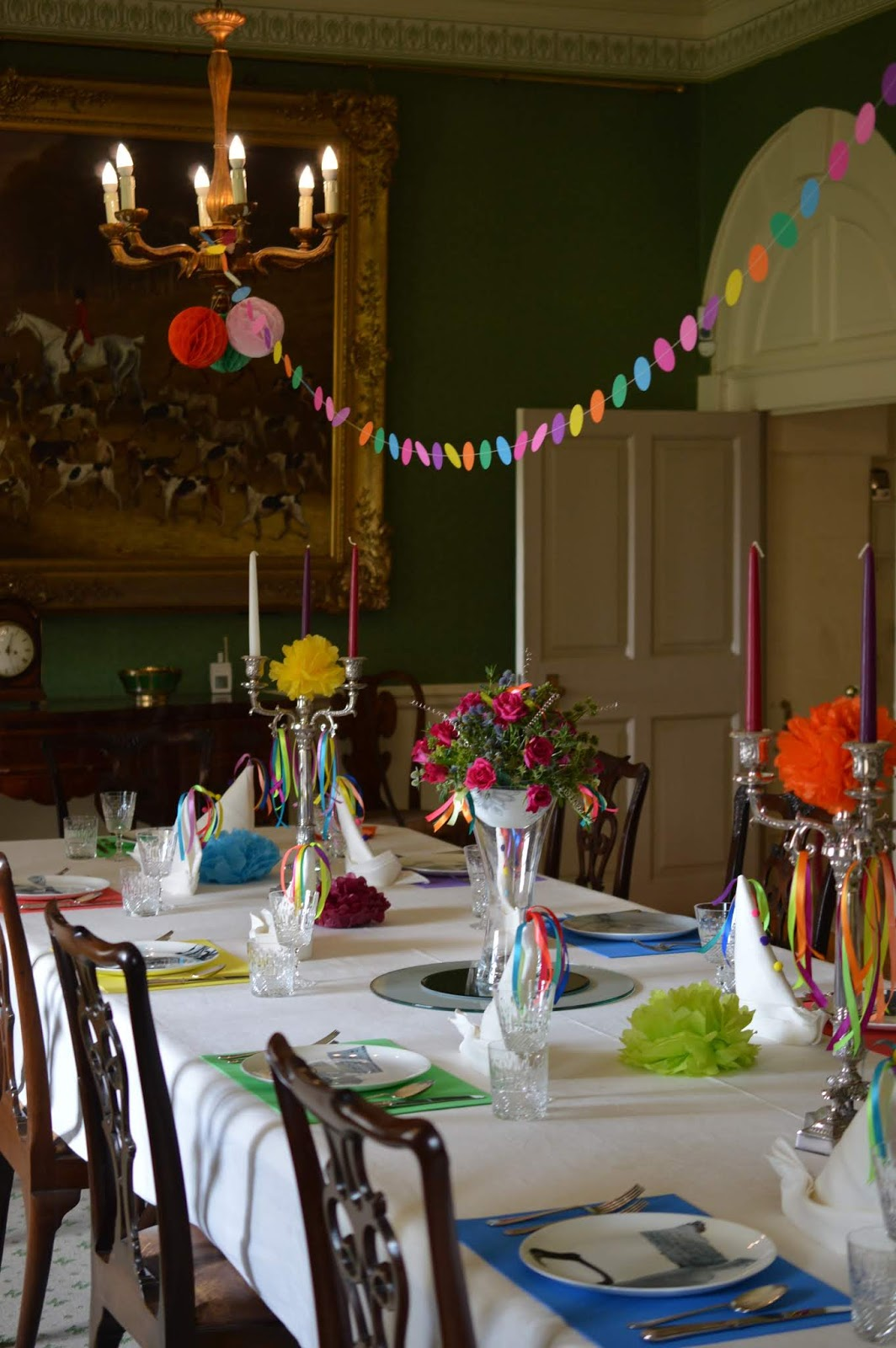 10 Reasons to Visit Seaton Delaval Hall  - dining room party