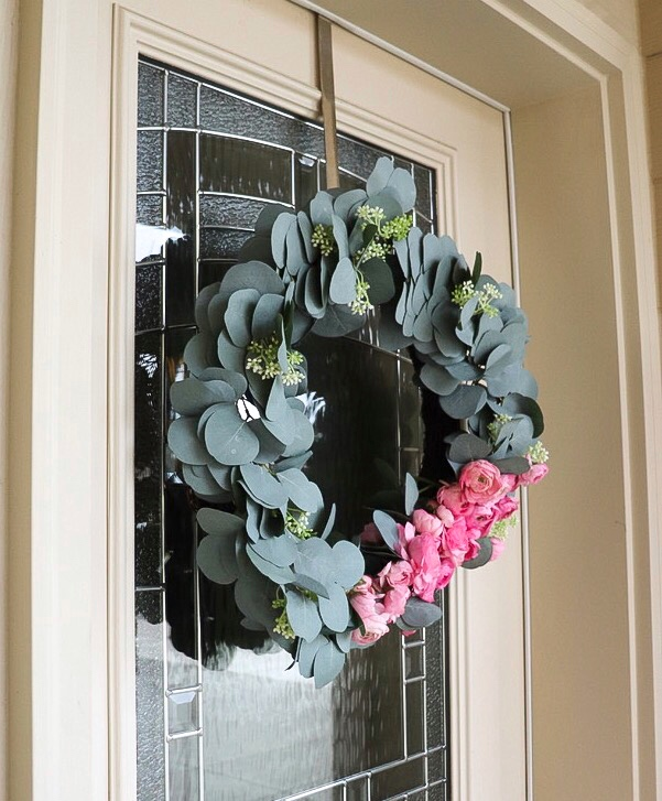 DIY spring wreathe