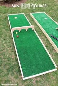 DIY mini putt golf yard game