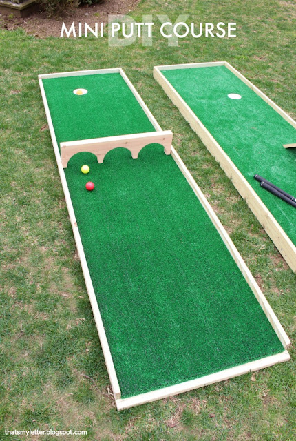 DIY mini putt golf yard game