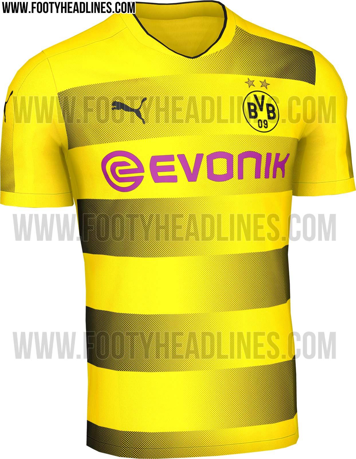 8db1467cfa068 Nova camisa do Borussia Dortmund deverá ter faixas pretas na horizontal em  degradê