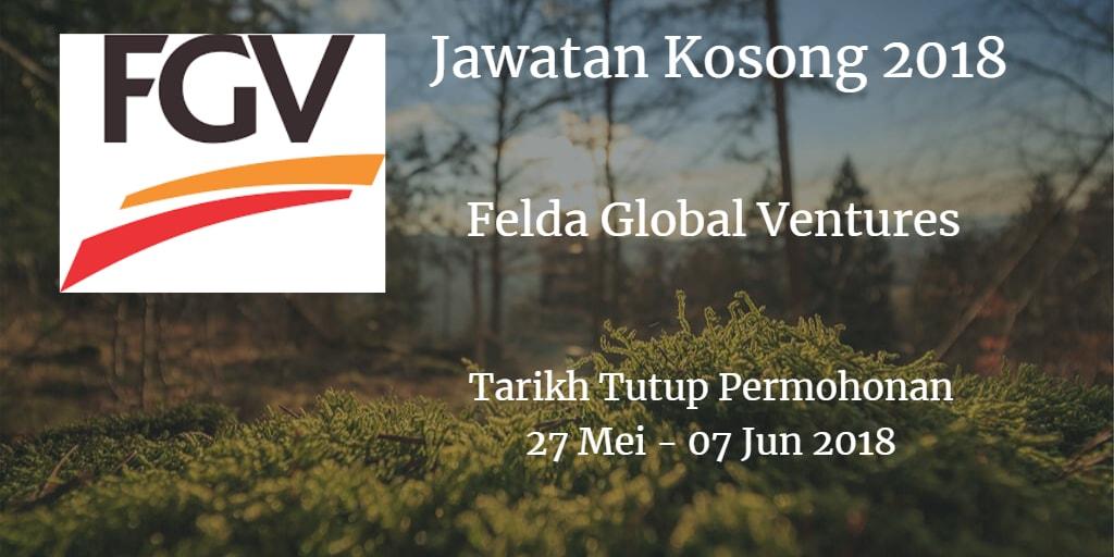 Jawatan Kosong FGV 27 Mei - 07 Jun 2018