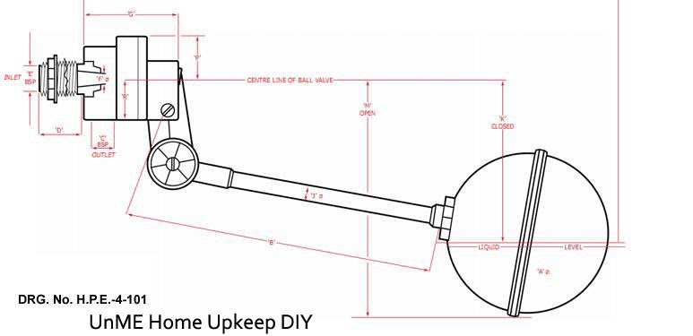 Unme Home Upkeep Diy Replacing The Ball Float Valve Of