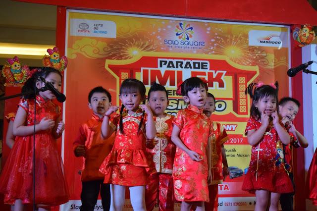 KB-TK Kalam Kudus Mengikuti Kegiatan Parade Imlek di Solo Square