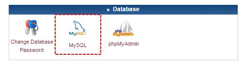 Painel de controle - MySQL