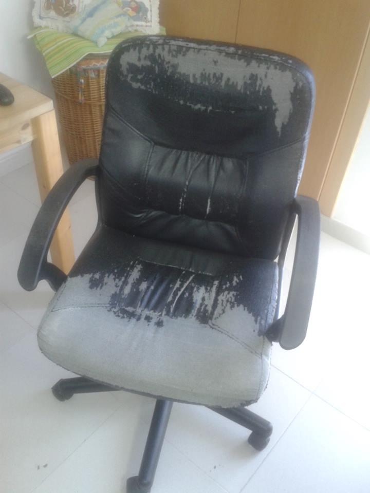 El rincón de los trastos: Renovar la silla del ordenador (re-editado)