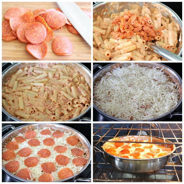 Pepperoni Pizza Baked Ziti