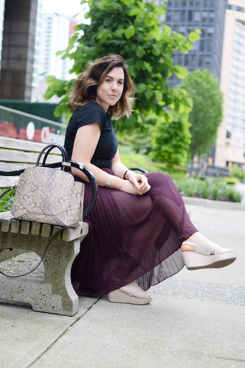 Geox Thelma sandal flatform summer style Aritzia babaton jude skirt Vancouver fashion blogger