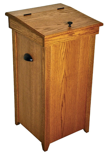 wood trash cans for kitchen plans