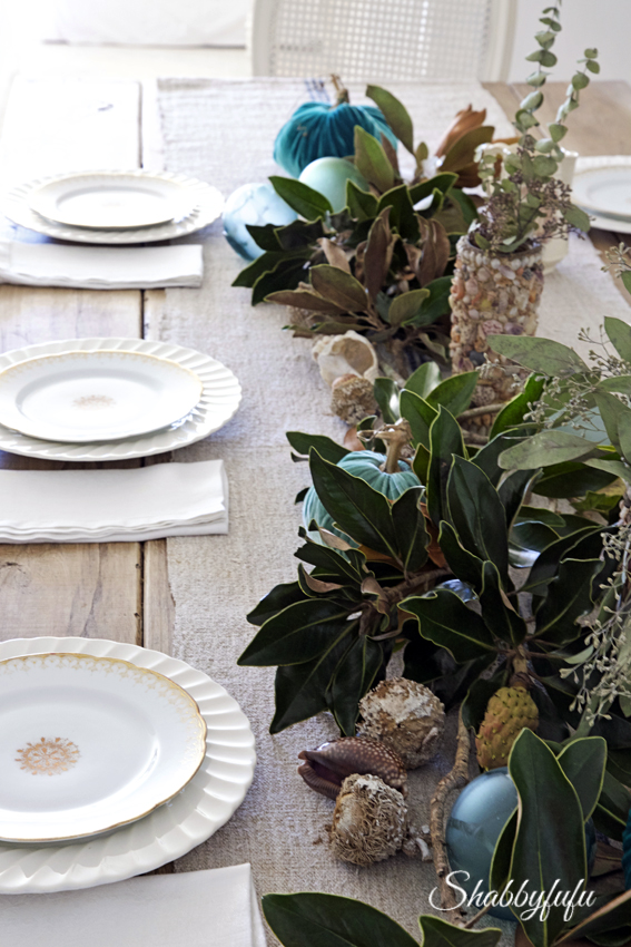fall table setting ideas beach coastal