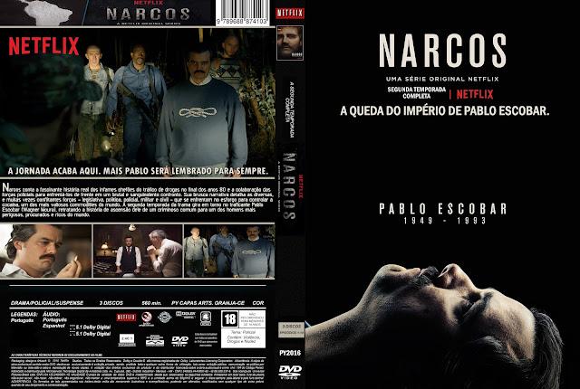 Capa DVD Narcos Segunda Temporada Completa