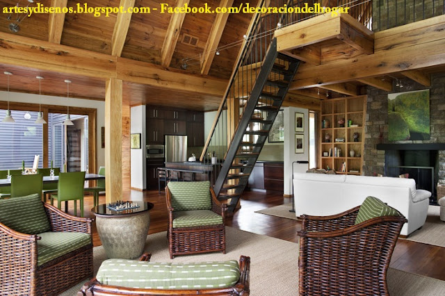 Como Decorar Interiores De Una Casa De Campo Decoracion Del Hogar - Decoracion-de-casas-de-campo