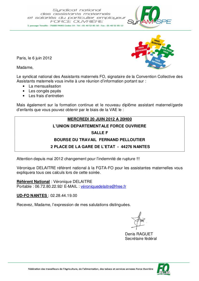 FO - Loire Atlantique: RÉUNION D'INFORMATION POUR LES ...
