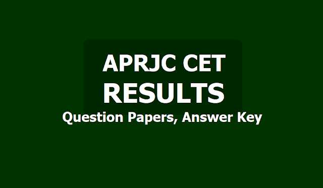 APRJC CET Results, Question papers, Answer Key 2019 @ www.aprjdc.apcfss.in
