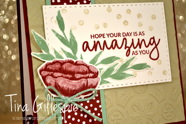 scissorspapercard, Stampin' Up!, Art With Heart, Colour Creations, Incredible Like You, Varied Vases, Tin Tile 3DTIEF, SSS Double Stitched Rectangles
