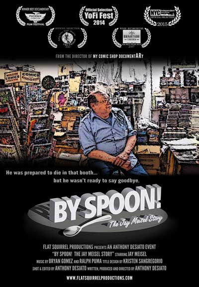 The poster from By Spoon! The Jay Meisel Story, a documentary from 2014