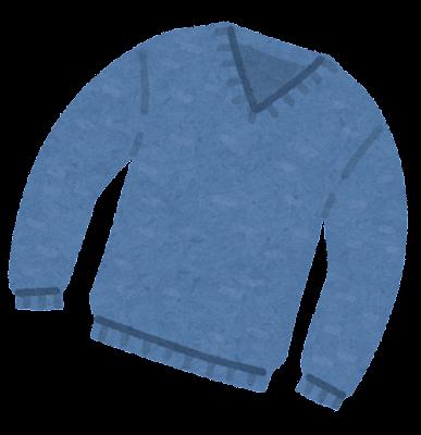 セーターのイラスト(Vネック)