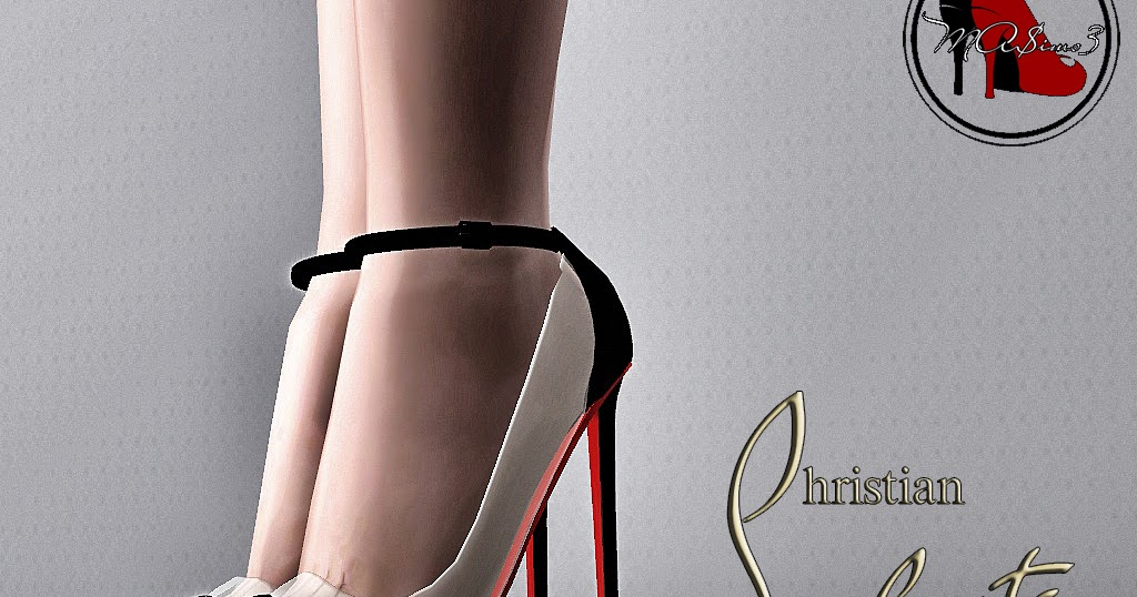 194b4d2d8b8e My Sims 3 Blog  Christian Louboutin Bis un Bout Transparent PVC Ankle Strap  Shoes