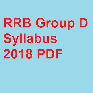 RRB Group D Syllabus 2018 PDF