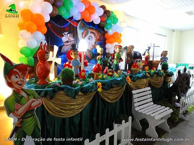 Decoração de festa infantil Peter Pan - mesa decorativa infantil
