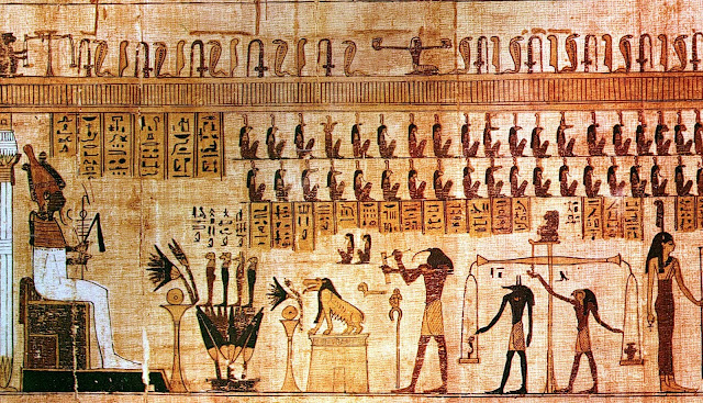 Psicostasia, Antigo Egito, Osíris, Maat