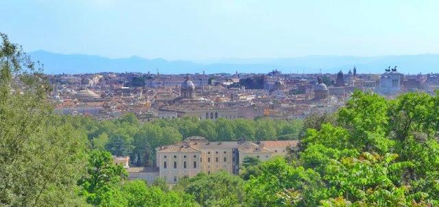Vistas de Roma desde lo alto del Gianicolo
