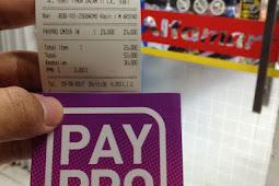 Membeli Stiker PayPro di Alfamart
