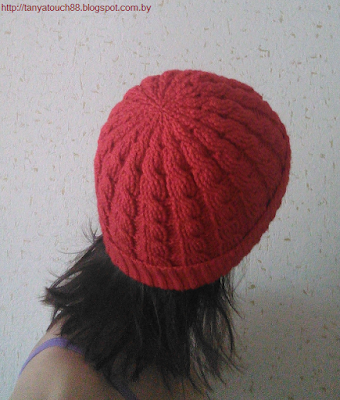 шапка с косами крючком