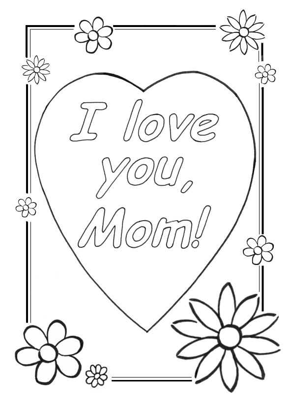 I love you mom coloring pages cool christian wallpapers for Mommy and me coloring pages