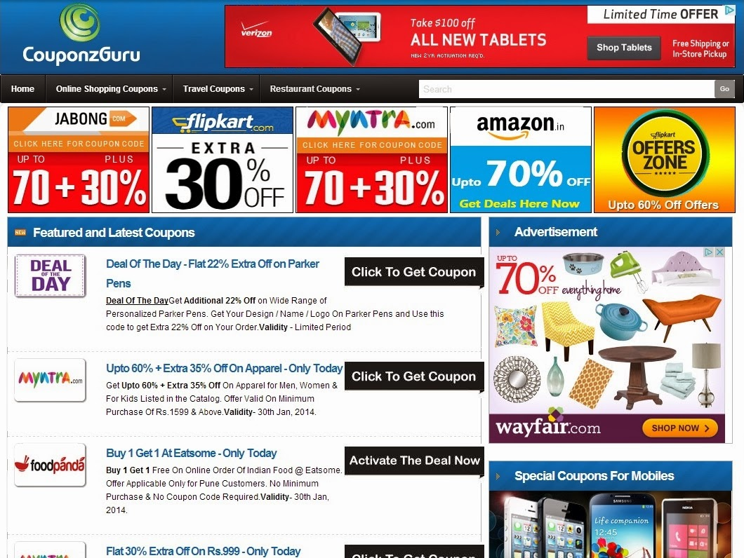 196779f61 CouponzGuru believes to help online shoppers by listing or aggregating all promo  codes and deals at one place. So let s have a look at what CouponzGuru ...