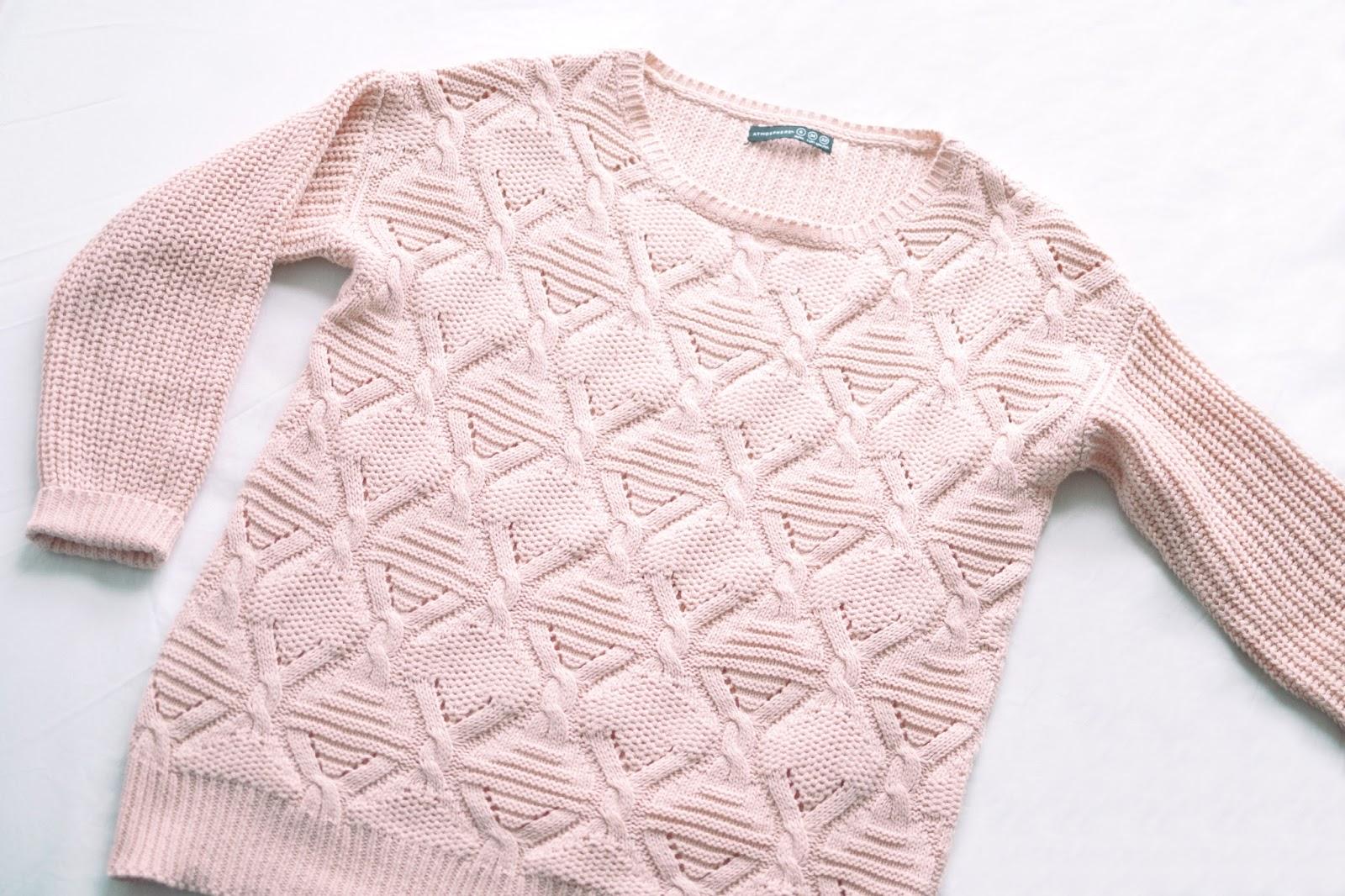 pink jumper, jumper from primark