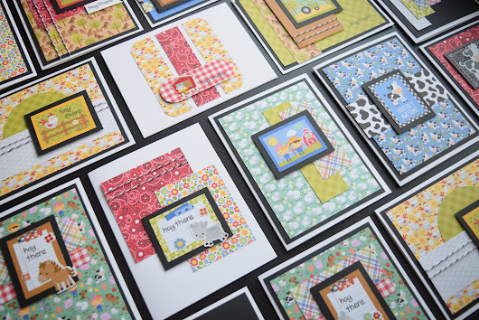 34 Cards with Doodlebug Down on the Farm Collection