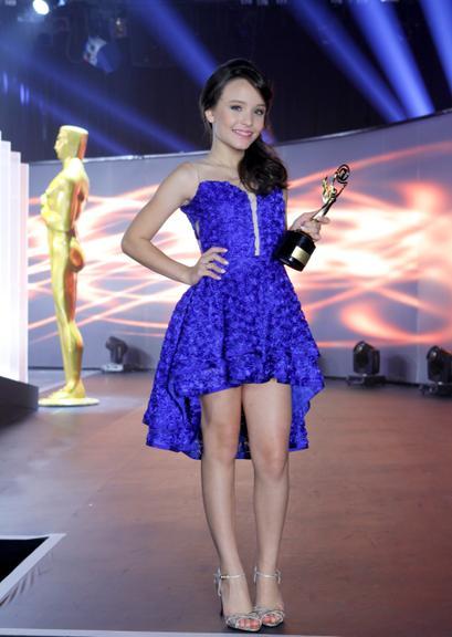 Larissa manoela vestido azul