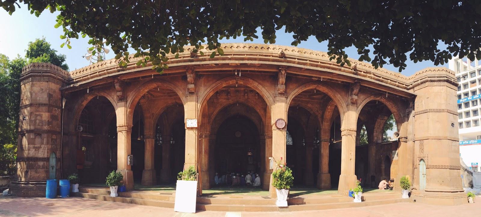 Sidi Saiyyed Mosque Ahmedabad panorama sayed sayeed masjid islam muslim