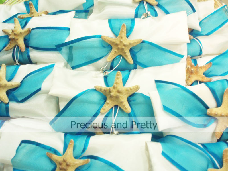 Starfish greek wedding favors
