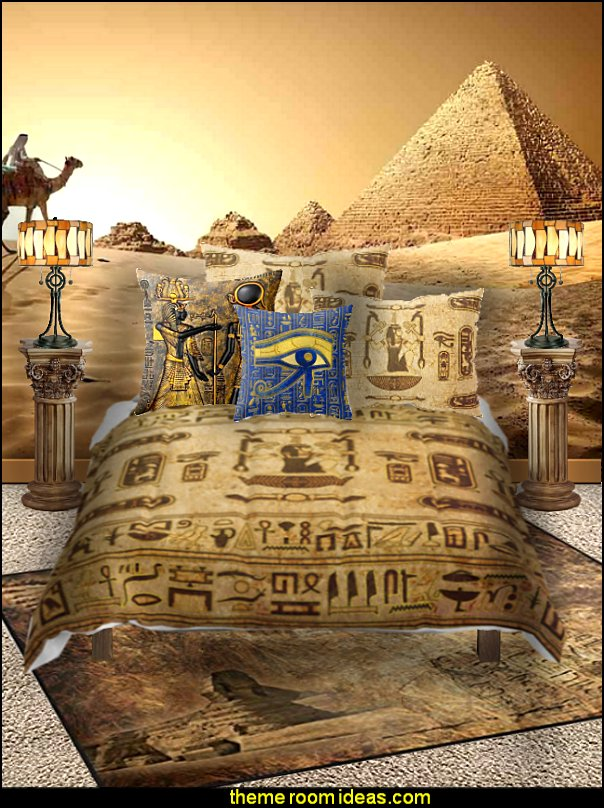 egyptian bedding egyptian rooms egyptian bedding Egyptian theme bedroom decorating ideas - Egyptian decor - Egyptian furniture - Egyptian Themed Home Decor - pyramid wall murals - Egyptian wall decals - Egyptian themed bedding - Egyptian throw pillows -  egyptian themed bedding set - ancient egyptian themed bedding - Egyptian Home decor ideas - Egyptian costumes - Egyptian themed lighting -  Egyptian Queen costume -  Egyptian Pharaoh Costume - Hieroglyphic posters - Egyptian themed rooms