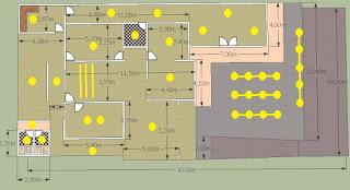 Rencana penempatan lampu